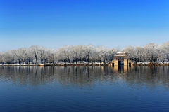 Summer Palace. The Summer Palace with snow in Beijing Royalty Free Stock Photo
