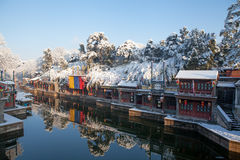 Summer Palace after the snow Royalty Free Stock Photo
