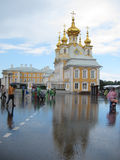 The Summer palace in St.Petersburg after raining Stock Image