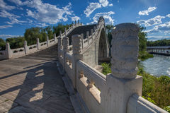 Summer Palace, stone arch bridge Royalty Free Stock Photography