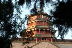 The Summer Palace, temple,building, turrets,history,. The Summer Palace buildings ,,The ancient six turrets Royalty Free Stock Images