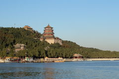 The Summer Palace, temple,lake. Lake view,autumn Royalty Free Stock Photos