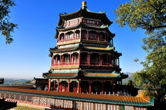 Summer Palace- Tower of Buddhist Incense(foxiangge. The Summer Palace is  the most famous  emperor garden in china.As the symbolic structure, the Tower of Royalty Free Stock Photography