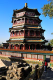 Summer Palace- Tower of Buddhist Incense(foxiangge. The Summer Palace is  the most famous  emperor garden in china.As the symbolic structure, the Tower of Royalty Free Stock Image