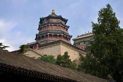 Summer Palace- Tower of Buddhist Incense(foxiangge Royalty Free Stock Photo