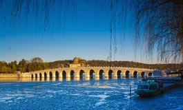 Summer palace winter. The summer palace in autumn Royalty Free Stock Photo