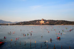 The Summer Palace in winter Royalty Free Stock Images