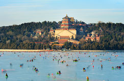The Summer Palace in winter Stock Image