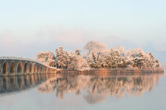 Summer Palace in winter Royalty Free Stock Photography
