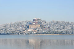 Summer Palace in winter Royalty Free Stock Photo