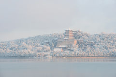 Summer Palace in winter Royalty Free Stock Images