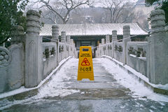 Summer palace in winter. Just after snowing Royalty Free Stock Images