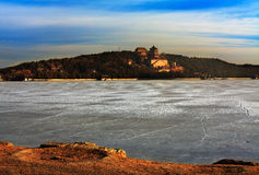 Summer palace in winter morning Stock Photography