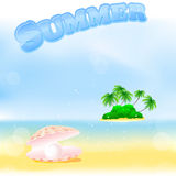 Summer palm beach Royalty Free Stock Photography