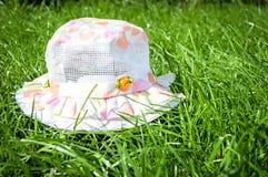 Summer panama on green grass Stock Photo