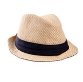 Summer panama straw hat Royalty Free Stock Images