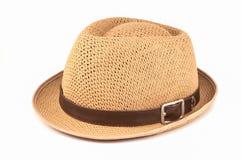 Summer panama straw hat Royalty Free Stock Photos