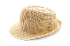 Summer panama straw hat Royalty Free Stock Photo