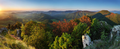 Summer panorama of the Carpathian Royalty Free Stock Image