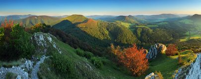 Summer panorama of the Carpathian Mountains Stock Images