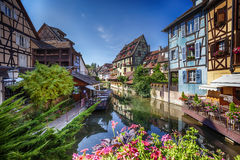 Summer panorama in Colmar, named Royalty Free Stock Photography