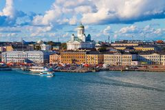Summer panorama of Helsinki, Finland Royalty Free Stock Photo