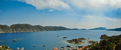 A summer panorama from Kas Royalty Free Stock Photos