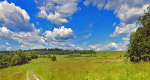 Summer panorama landscape Stock Photos