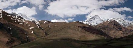 Summer panorama of mountain peaks Royalty Free Stock Image