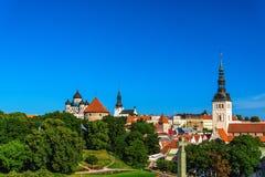 Summer panorama of Old Town in Tallinn, Estonia Royalty Free Stock Photos