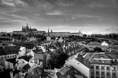 Summer panorama of Prague Royalty Free Stock Image