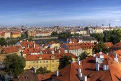 Summer panorama of Prague Stock Image