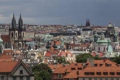 Summer panorama of Prague Royalty Free Stock Photography