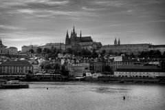 Summer panorama of Prague Royalty Free Stock Images