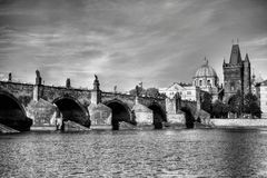 Summer panorama of Prague Royalty Free Stock Photo