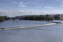 Summer panorama of Prague Stock Images