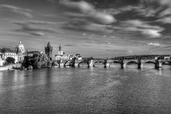 Summer panorama of Prague Stock Photos