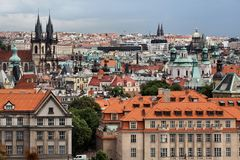 Summer panorama of Prague Stock Photography