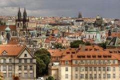 Summer panorama of Prague Royalty Free Stock Image
