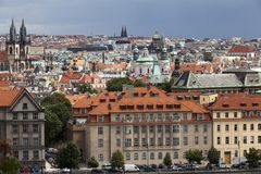 Summer panorama of Prague Stock Photo