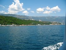 Summer panorama of south Crimea from the sea.  Stock Images