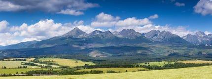 Summer panorama of Tatra mountains Stock Photos