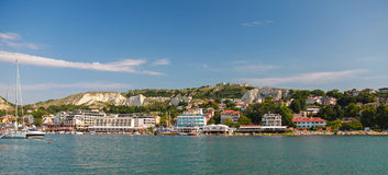 Summer panoramic landscape of Balchik town Stock Image