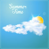 Summer paper background Royalty Free Stock Image