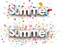 Summer paper banners. vector illustration
