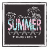 Summer paradice. Beauty time. Vector illustration for t-shirt and other uses. Stock Photo