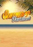 Summer paradise background Stock Photo