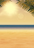 Summer paradise background Royalty Free Stock Photos