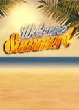 Summer paradise background Stock Photos