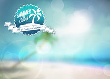 Summer paradise background Royalty Free Stock Photography